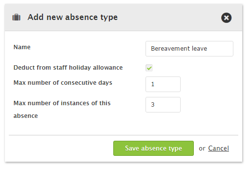 Customer absence limits