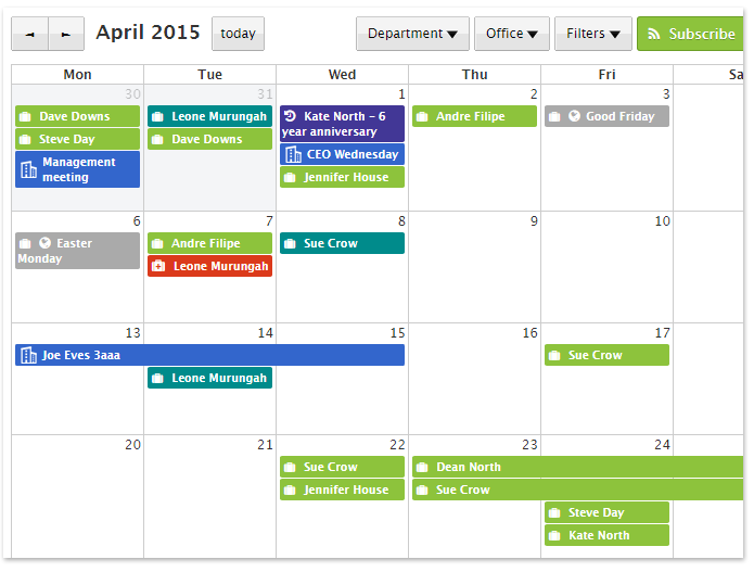 Calendar Diy Software : Time tracking archives staff squared